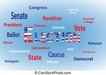 選挙, 単語, 雲