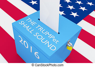 選挙, 音, トランペット, 2016, shall, 概念