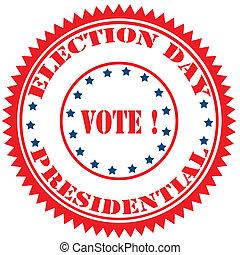選挙, day-stamp