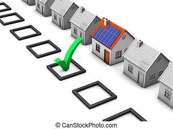 選擇, eco, 房子