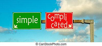 選擇, the, 權利, path;, 簡單, 或者, 複雜