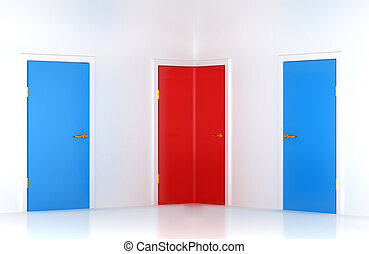 選擇, the, 權利, way:, 概念性, 角落, 門