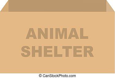 避難所, 箱, 寄付, ベクトル, 動物