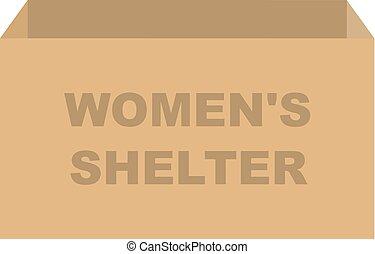 避難所, 箱, 寄付, womens, ベクトル