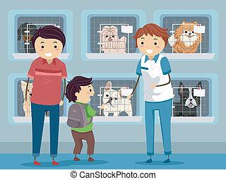 避難所, 訪問, 犬