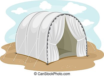 避難者キャンプ