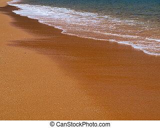 邀請, 金的沙子, 海灘