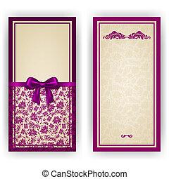 邀请, 巨大, 矢量, 奢侈, 样板, 卡片