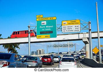 邁阿密, 交通, 海灘, 佛羅里達, 開車