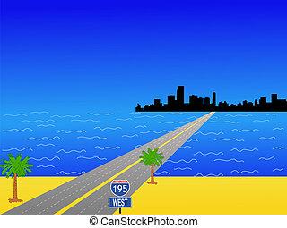 邁阿密, 以及, 州際, 195