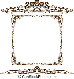 邊框, 以及, 裝飾品