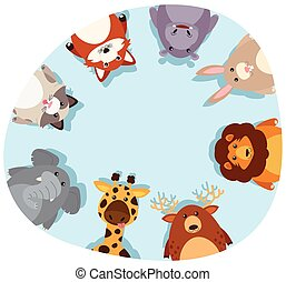邊框, 動物, 輪, 漂亮