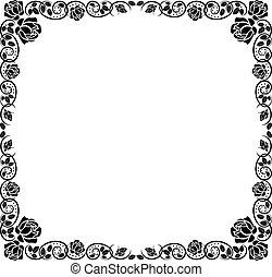 邊框, 由于, 上升, 裝飾