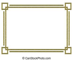 邊框, 設計, 金
