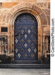 邊, 入口, 到, 布拉格, 聖徒, vitus, 大教堂