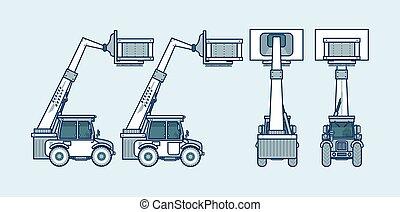 邊, 風格, 背, 線, loader, 前面, 看法