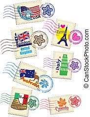 邮票, 放置