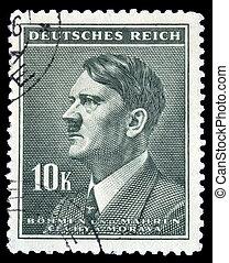 邮票, 10k, adolph hitler