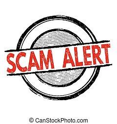 邮票, scam, 警报