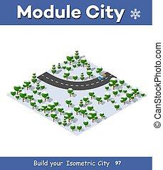郊區, 高速公路, 路, 旋轉