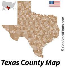 郡, 地図, テキサス