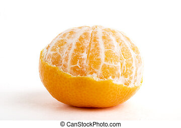 部分的に, 皮をむかれた, オレンジ