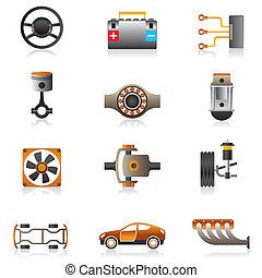 部分, ......的, the, 汽車引擎