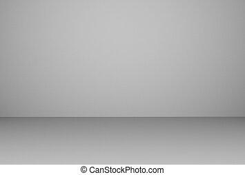 部屋, イラスト, レンダリング, 内部, 白, 空, 3d