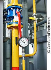 部屋, ガス, システム, 加熱, equipments, ボイラー
