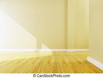 部屋, レンダリング, デザイン, 内部, 空, 3d