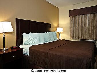 部屋, 典型的, ホテル