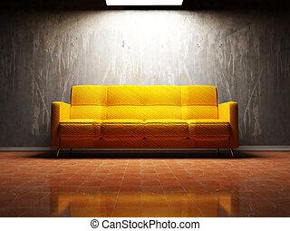 部屋, 内部, 暮らし, デザイン, 現代