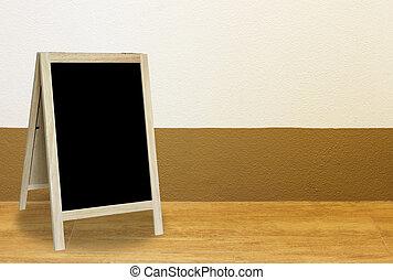 部屋, 内部, 黒板, 壁, 三脚, blackground