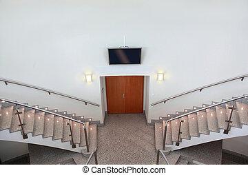 部屋, 前部, 会議, 入口, はしご, フライト, 2