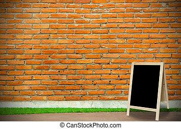 部屋, 壁, 黒板, 三脚, blackg, molder, 内部, れんが