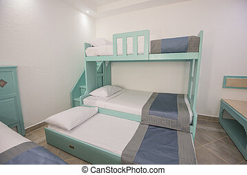 部屋, 家族, 寝台, ホテル, ベッド, リゾート, 贅沢