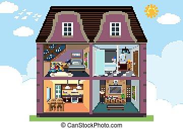部屋, 家, furnitures, 4