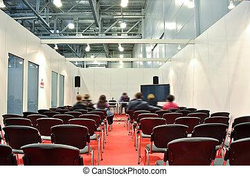 部屋, 床, 椅子, 灰色, プレゼンテーション, 赤