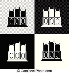 部屋, 椅子, 隔離された, イラスト, 透明, バックグラウンド。, ベクトル, テーブル, court's, 黒, icon., 白, アイコン