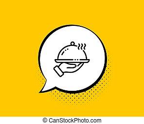 部屋, 線, icon., 印。, 食物, レストラン, ホテル, 夕食, service., ベクトル