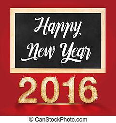 部屋, 黒板, writting, スタジオ, 年, 新しい, 2016, 赤, 幸せ