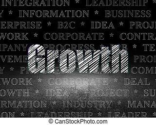 部屋, concept:, 成長, 暗い, グランジ, ビジネス