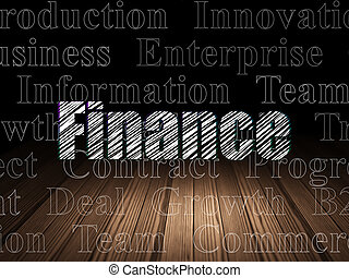 部屋, concept:, 暗い, グランジ, ビジネス 財政
