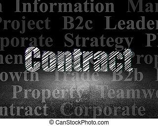 部屋, concept:, 暗い, グランジ, 契約, ビジネス