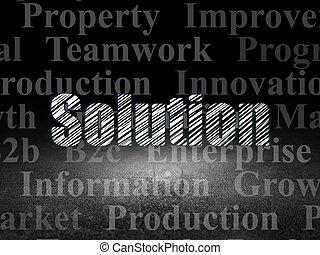 部屋, concept:, 解決, 暗い, グランジ, 金融