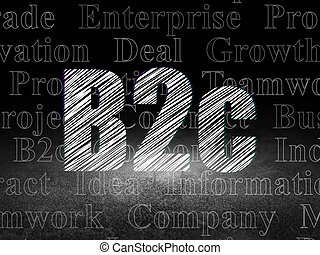 部屋, concept:, b2c, 暗い, グランジ, ビジネス