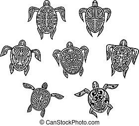 部落, 海龜, 紋身