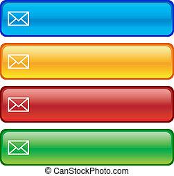 郵件, buttons.