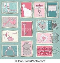 郵便切手, 結婚式