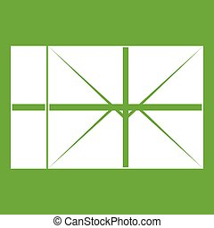 郵便, 緑, 小包, アイコン